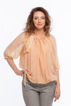 Блуза Зара персиковая