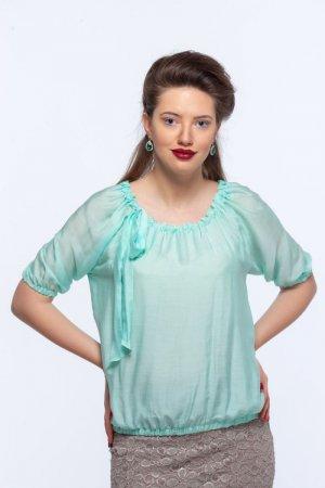 Блуза Зара бирюзовая