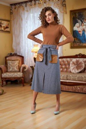 Юбка серая с карманами