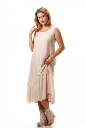 Платье льняное Nicoll пудровое