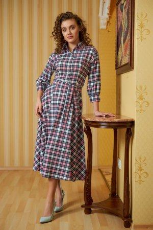 Платье-рубашка с юбкой полусолнце