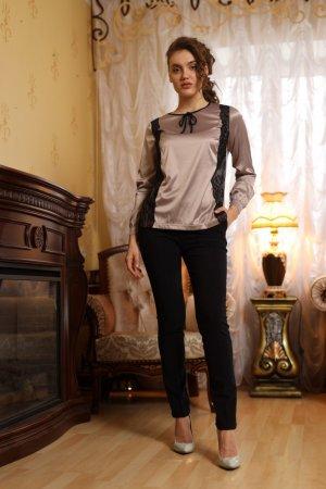 Блуза Джессика атласная с кружевом