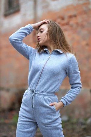 Комбинезон женский серый