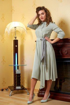 Платье хлопковое оливковое