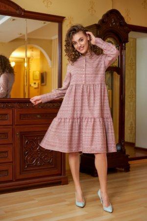 Платье-рубашка льняное