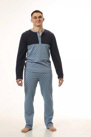 Пижама мужская комбинированная принт