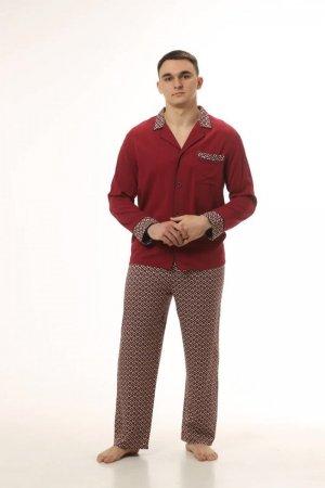 Пижама мужская спелая вишня принт